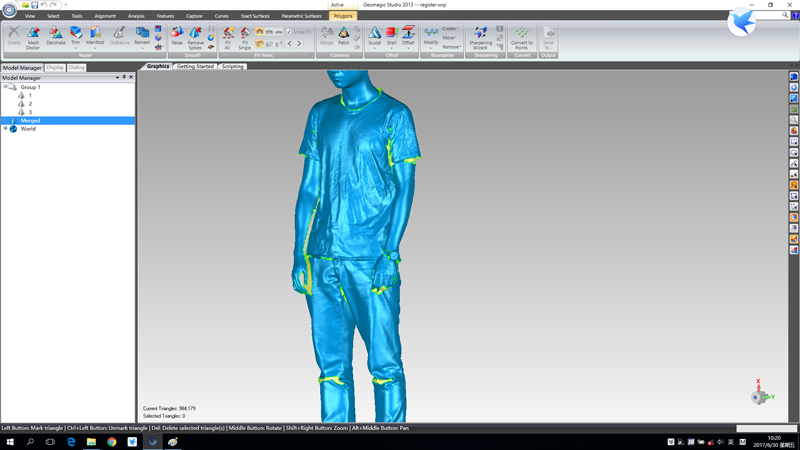 How to scan a human body by EinScan-Pro or EinScan-Pro+ 3D