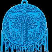 Precision-Mould-Blue-Pendant